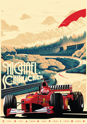 MICHAEL SCHUMACHER 'KEEP FIGHTING' POSTER