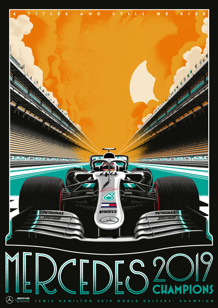 MERCEDES 2019 CHAMPIONS POSTER