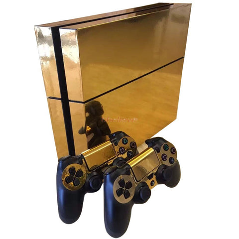 Glossy Gold Skin for PS4 & Controllers