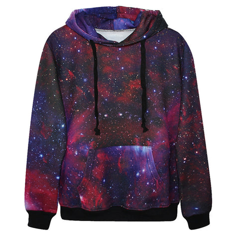 Red White and Blue Nebula Hoodie