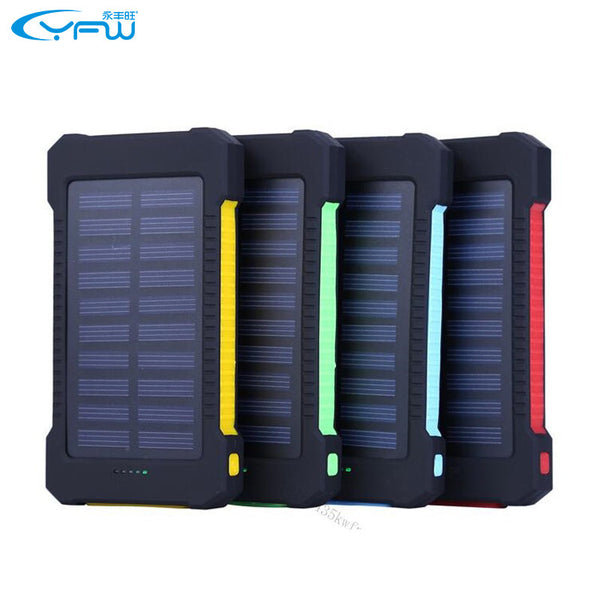 Waterproof Solar Charger w/ LED Light & Compass