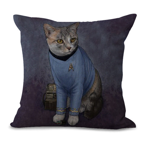Iconic Cat Figures Pillow
