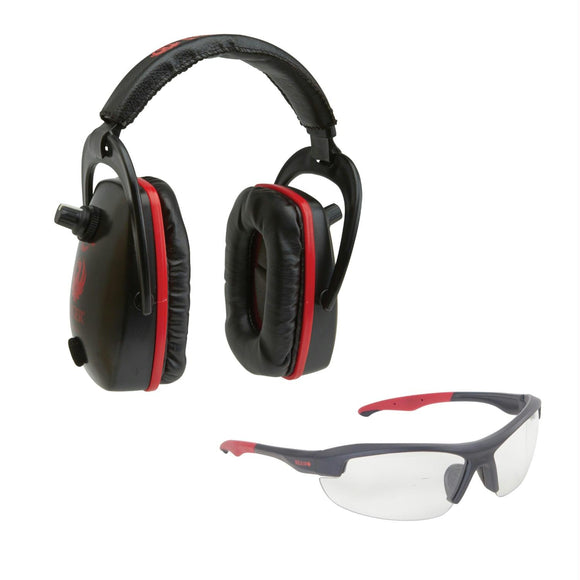 Allen Ruger Conix Ballistic Muff-Glasses Combo-Black-Red