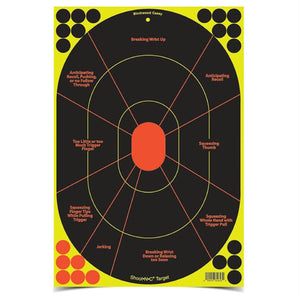 Birchwood Casey Shoot-N-C 12inx18in Handgun Trainer-40 Shts