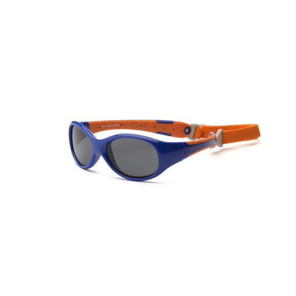 Real Kids Nvy-Orange Flex Fit Removable Band Smoke Lens 2+