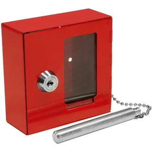 Barska Breakable Emergency Key Box W-Attached Hammer B Style