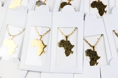 African Map Necklace Wholesale