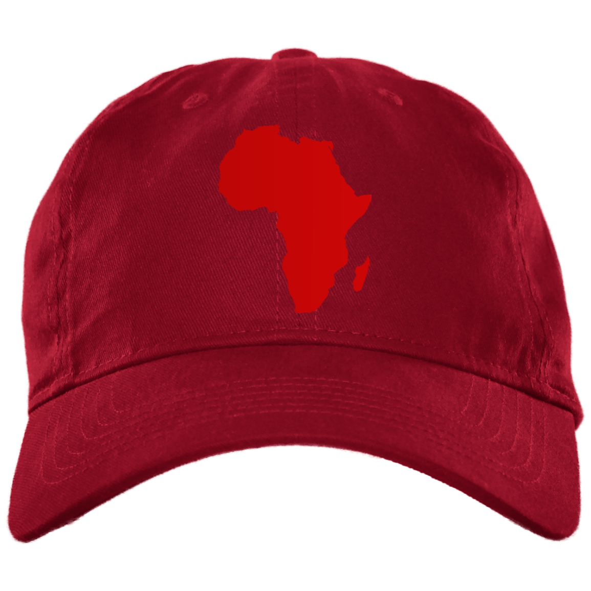 Red African Map Low Profile Hat - Timbuktu Arts