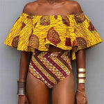 High Waist African Bikini & Off Shoulder Set - Timbuktu Arts