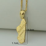 18k Unisex Gold Plated Madagascar Map Necklace Pendant - Timbuktu Arts