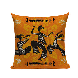 African Woman Cushion Cover Dancing Lady Africa Pillow Covers - Timbuktu Arts