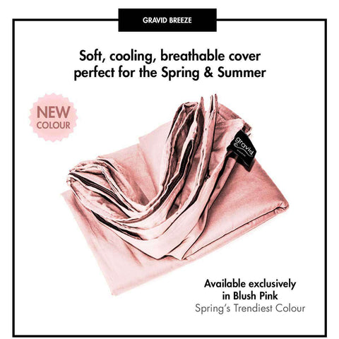 Spring Bundle: 4-Piece Set includes Weighted Blanket, Versa Cover, Blush Pink Breeze Cover and Visage Weighted Sleep Mask