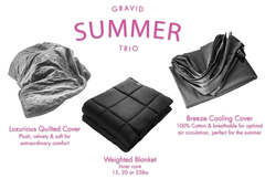 Summer Trio: Weighted Blanket +  Plush Cover + Breeze Cooling Cover