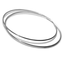 ESSENTIAL style - Fabulous 70mm 10K White Gold Hoops