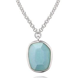 SUGAR MELON - Sterling Silver Chinese Amazonite Necklace