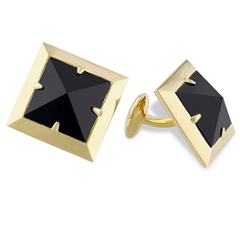 Edges - Black Onyx Pyramid Cufflinks