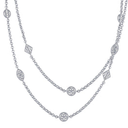 Sparks - White Sapphire Silver Stationed Necklaces