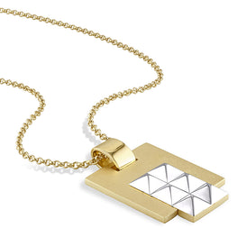 Edges - Two-Tone Pyramid Pendant SHIPS NOW