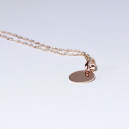 "DISC - 10K Rose Gold Disc pendant with 16"" Cable Chain"
