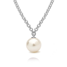 FANTASY - White Freshwater Pearl Sterling Silver Necklace
