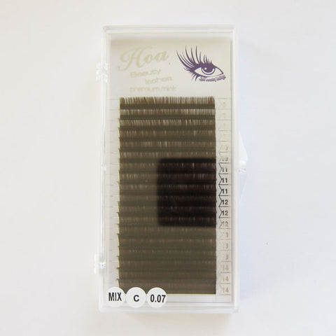 Mixed Brown Lash (C/D, 0.07)