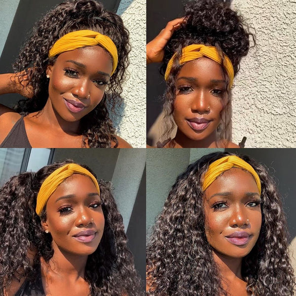 Curly Hair Headband Wig *No Lace No Glue* Beginner Friendly & Convenient