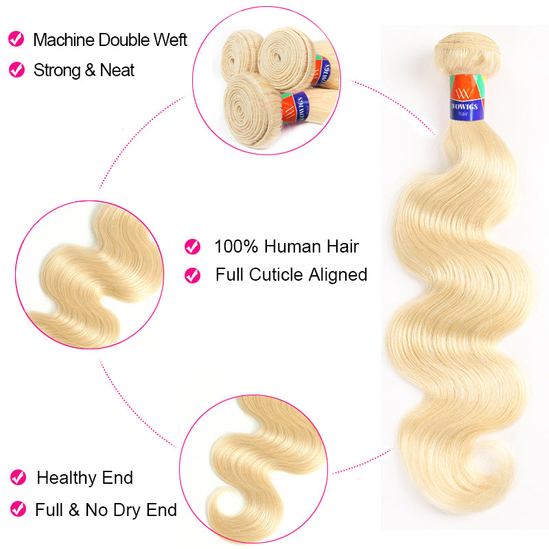 1 Bundle Deals Platinum Blonde Body Wave 100% Human Hair