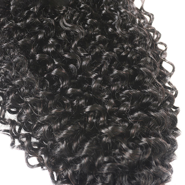 3 Bundles With a Frontal Curly Hair 100% Unprocessed Virgin Hair Extensions