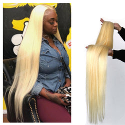 Blonde #613 Straight Hair Bundles 40 inch