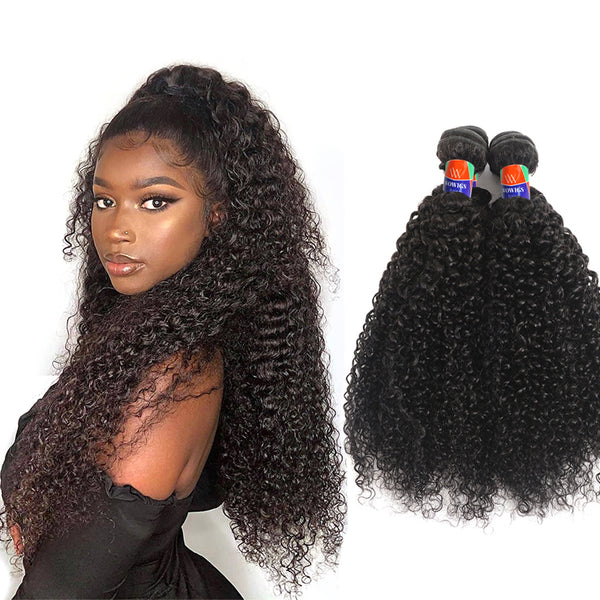 4 Bundle Deals Kinky Curly Hair 100% Virgin Hair Extensions