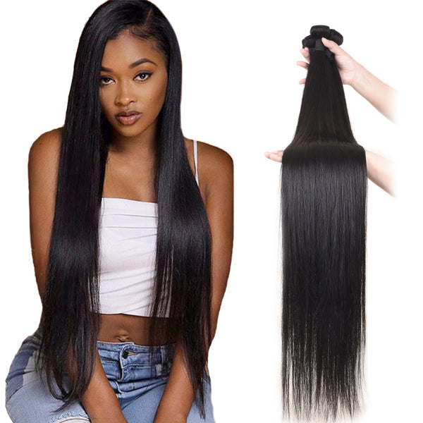 4 Bundle Deals Straight Hair 100% Virgin Hair Extensions
