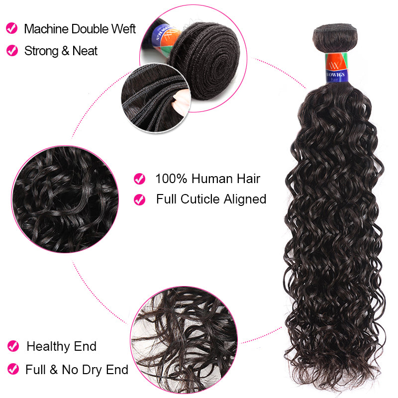 4 Bundles With a 4x4 Lace Closure Curly Hair Virgin Hair Extensions