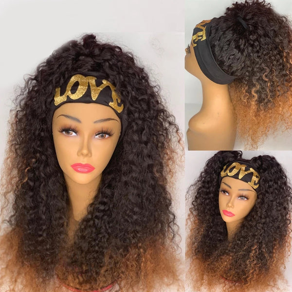 STARR Ombre Curly Headband Wig Human Hair Wig