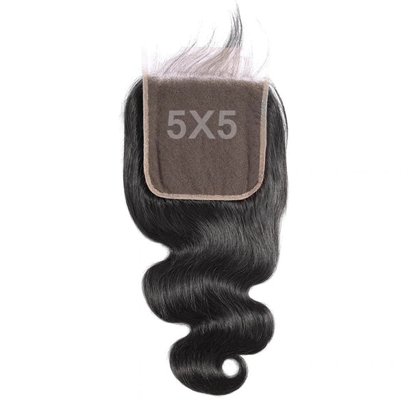 5x5 HD Lace Closure Body Wave 100% Human Hair