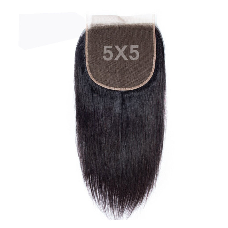 5x5 HD Lace Closure Straight Hair 100% Human Hair