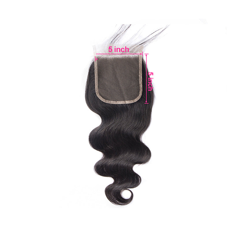 5×5 Lace Closure Body Wave 100% Virgin Hair