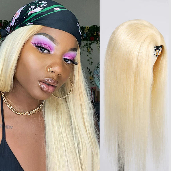 DEZZIE Blonde #613 Straight Headband Wig *No Lace No Glue* Beginner Friendly & Convenient