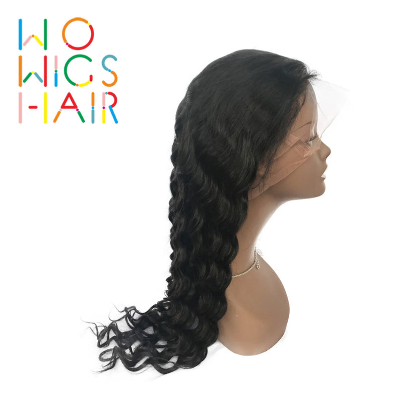 Deep Wave Full Lace Wigs & Lace Front Wigs 100% Virgin Hair Wigs Free Shipping