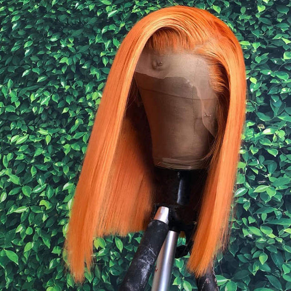 Ginger Bob Human Hair Wigs Lace Front Wig Full Lace Wig