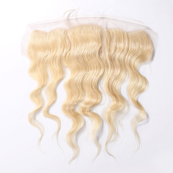 #613 Blonde 13×4 Lace Frontal Body Wave 100% Human Hair Extensions