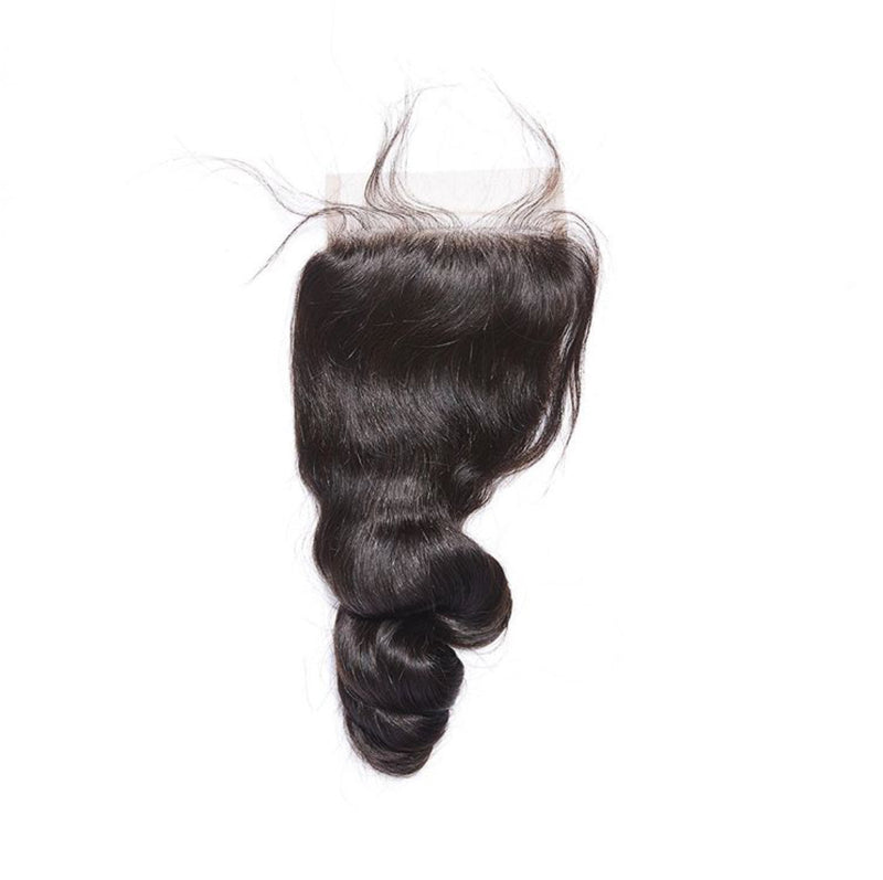 4×4 Lace Closure Loose Wave 100% Human Hair Extensions