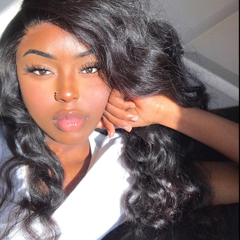 Natural Wave Full Lace Wigs Lace Front Wigs 100% Virgin Hair Wigs
