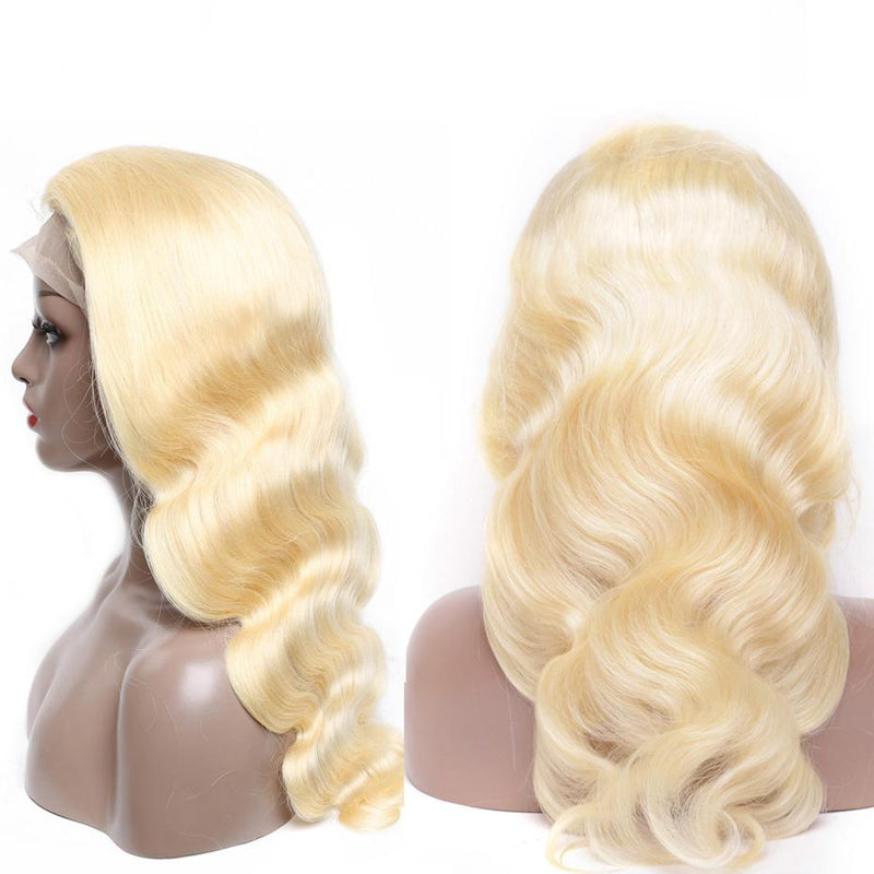 Blonde #613 Body Wave Lace Front Wig Full Lace Wig Human Hair Glueless Wig