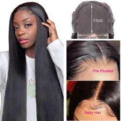 🆕 5x5 HD Lace Closure Wig  Straight Hair (20-26 inch Only)