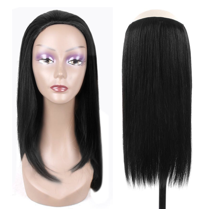 Silky Straight Half Wig 100% Human Hair Extension