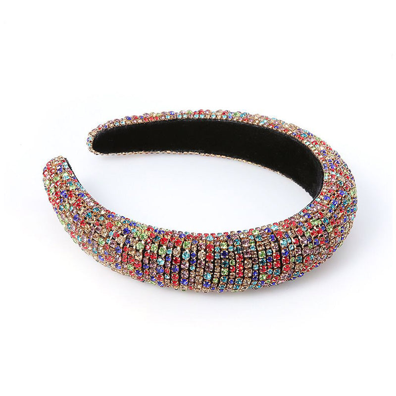 Sparkly Padded Rhinestones Headband ( Order Any 2 Headband Wigs Get it for FREE)