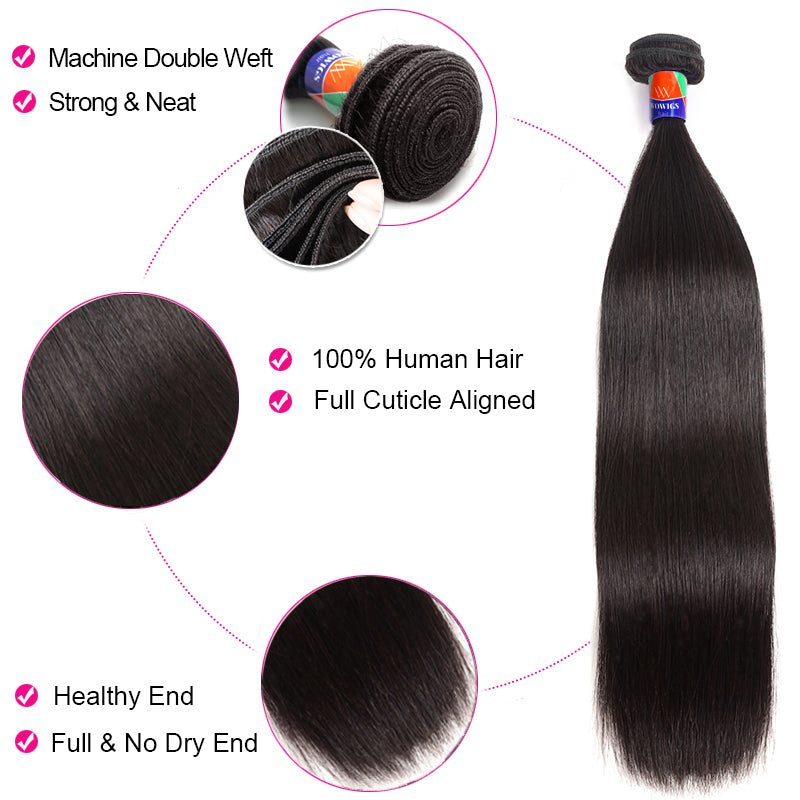 [Order 2 get 1 FREE Bundle ] Straight Hair Virgin Human Hair. Final Price No Code will Applied