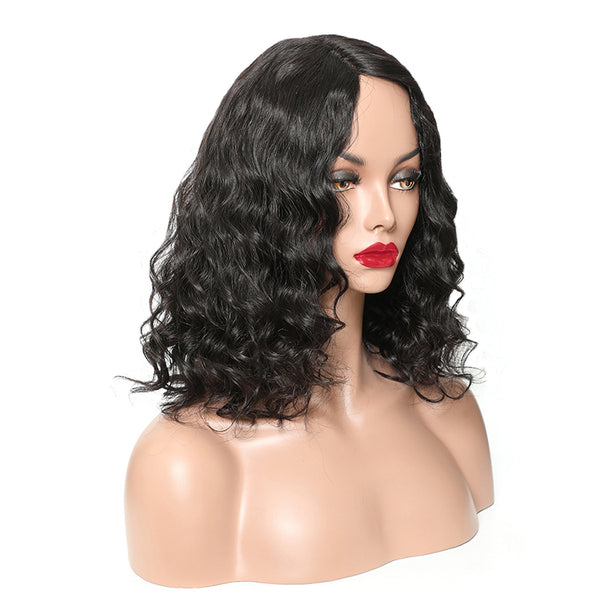 Deep Wave Bob Wigs 100% Virgin Hair Free Shipping Full Lace Wig Lace Front Wig