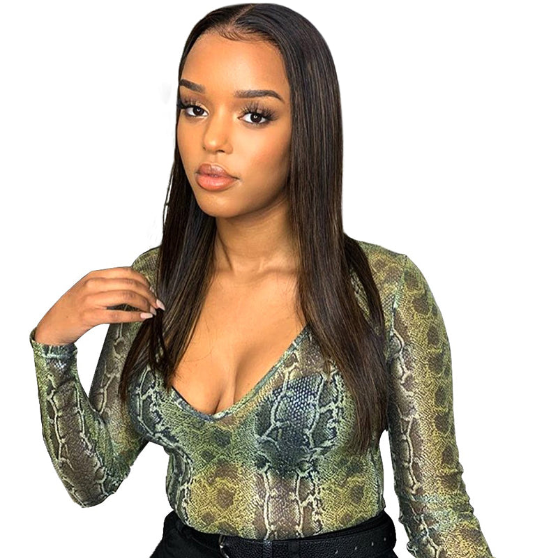 Silky Straight Human Hair Full Lace Wigs Lace Front Wigs 100% Virgin Hair Wigs