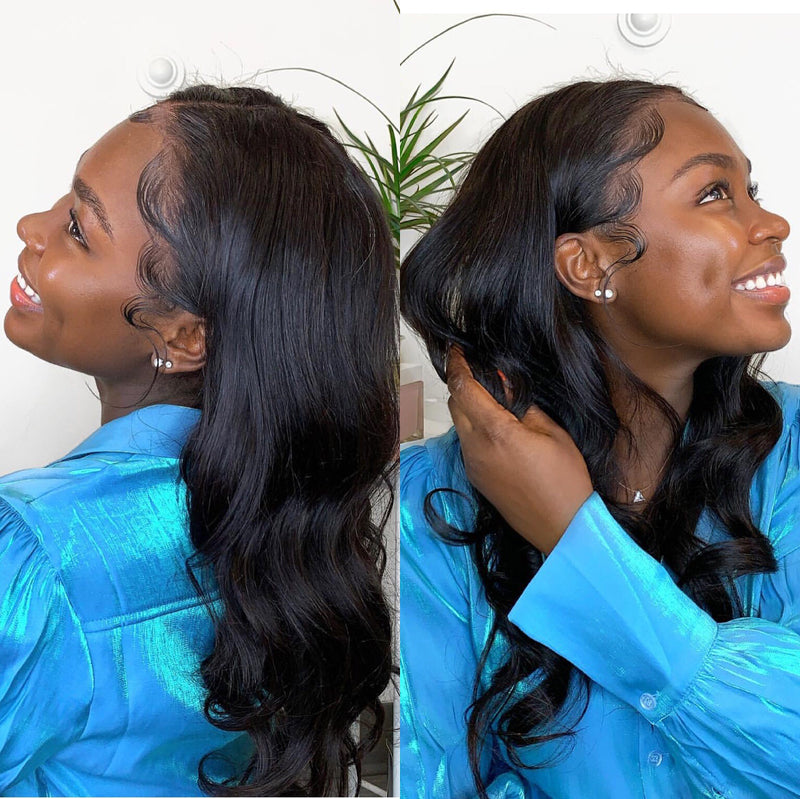 TIA Pre Plucked Body Wave Wigs Lace Wig 100% Virgin Hair Glueless Wigs